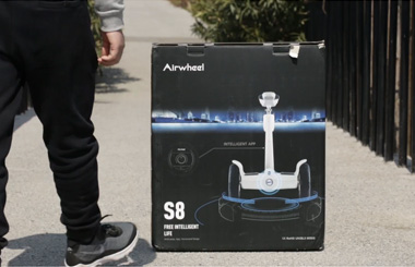 Airwheel S8 saddle equipped electric scooter